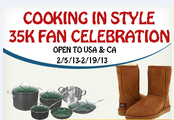 Cooking in style button