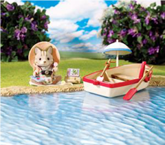 Calico Critters Rosie's Row Boat Review & Giveaway (Ends 9/25/13) - It's Free At Last