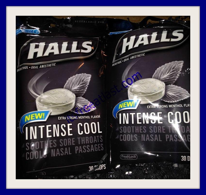Halls Intense Cool Cough Drops Box
