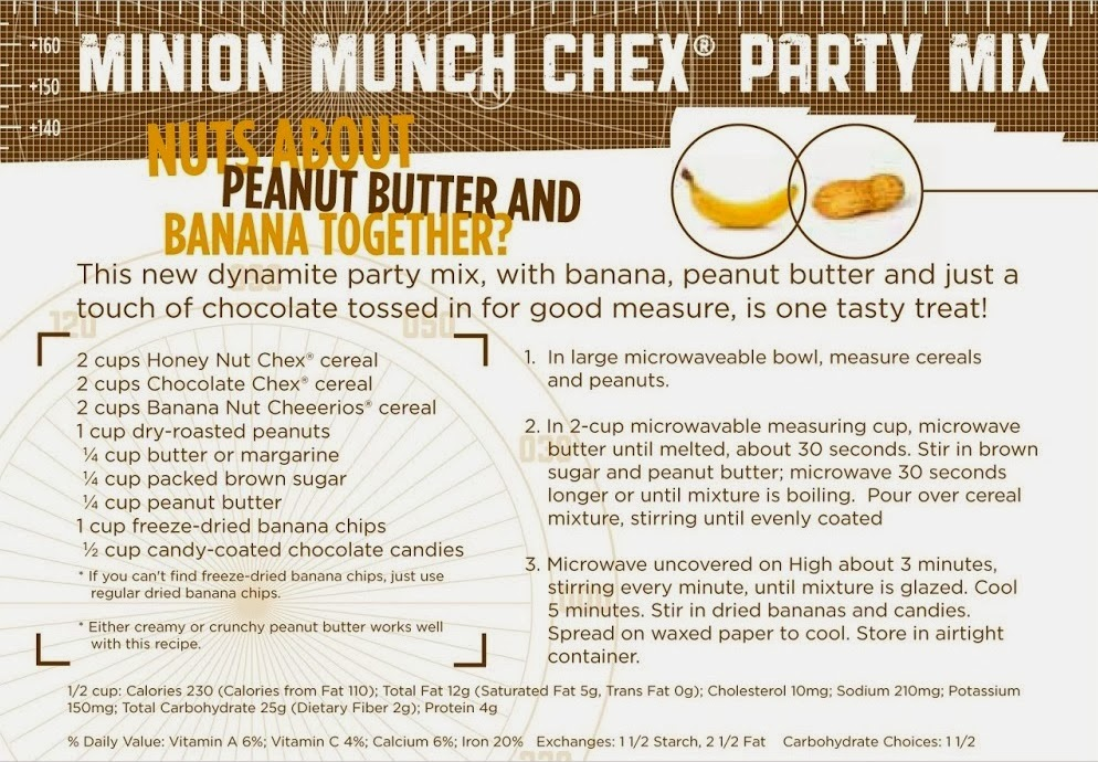 Minion Munch Chex Mix