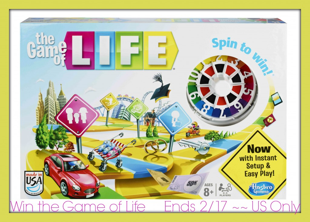 game of life sweepstakes hasbro s quot the game of life quot review giveaway ends 2 17 4626