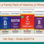 "Superior Source Vitamins ""LIVE HEALTHIER"" Family 6-Pack #Review & #Giveaway (Ends 05/07/14)"