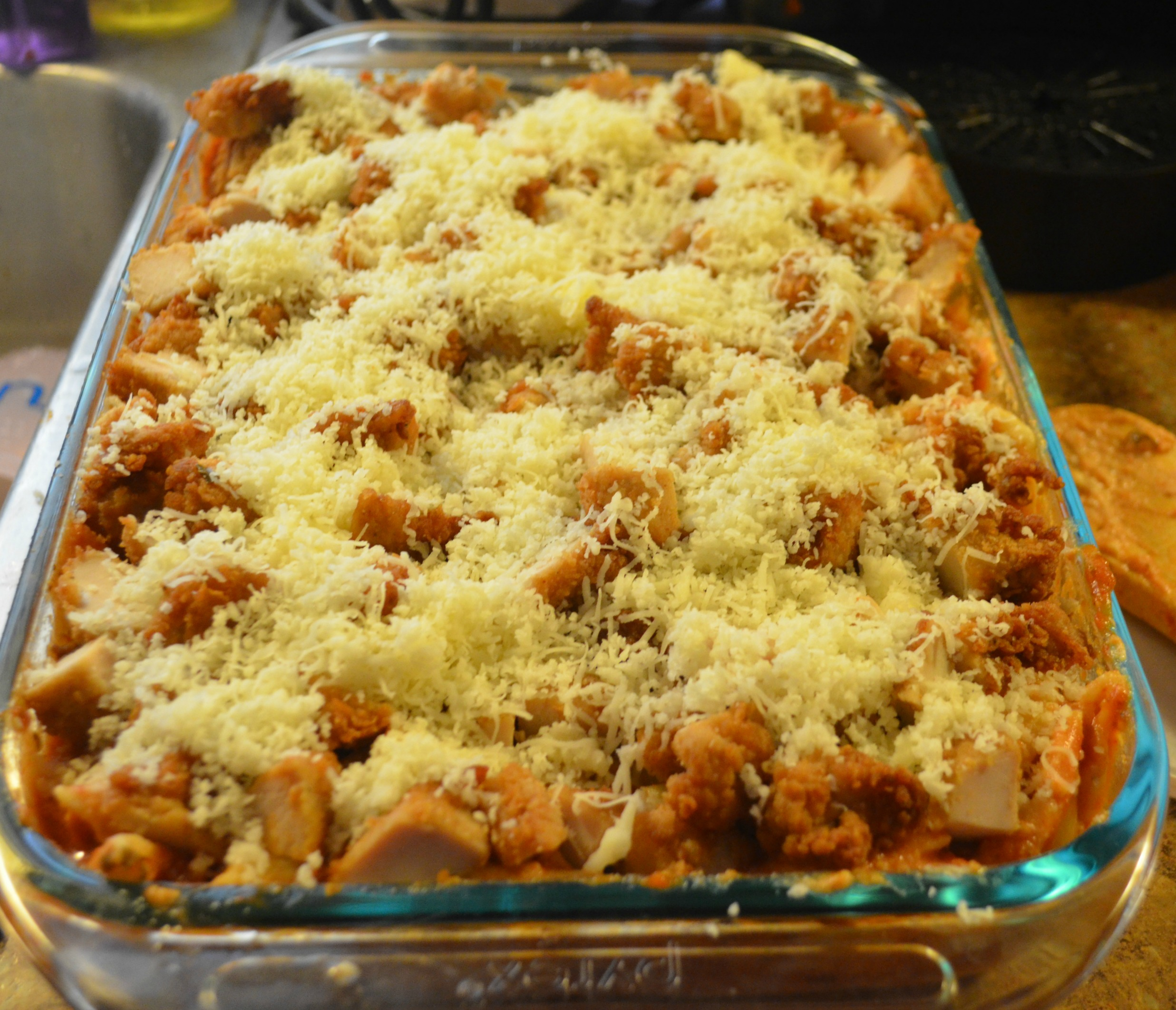 Baked Chicken Ziti Recipe Using Chick Fil A Chicken Nuggets Cfamoms