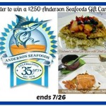 $250 Anderson Seafoods Gift Card Giveaway (Ends 07/26/14)