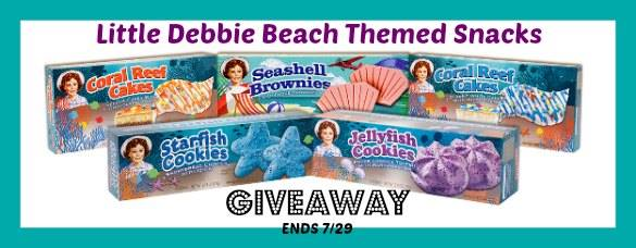 Little Debbie Beach Themed Snacks