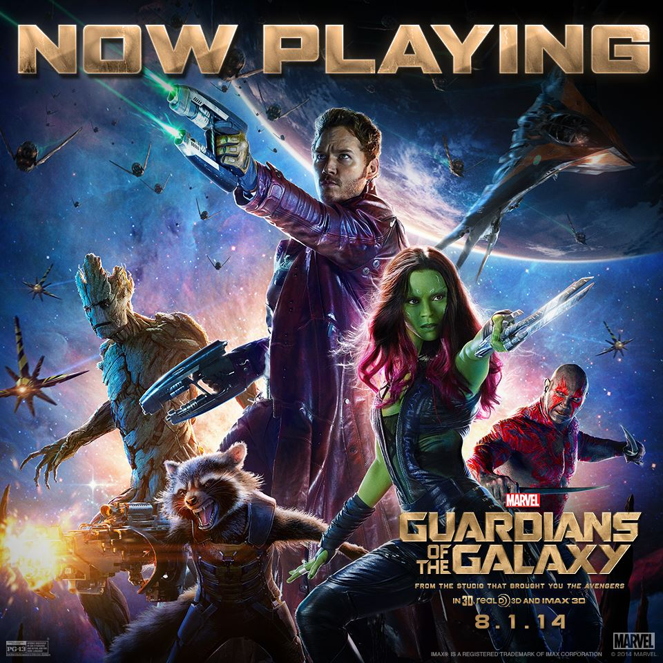 Now Playing Guardians of the Galaxy