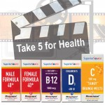 "Take ""5"" For Health W/ Superior Source Vitamins & Enter to #Win 1 of 2 Prize Packs"