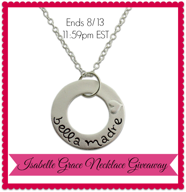 Isabelle Grace Bella Madre Necklace #Giveaway (Ends 8/13) | It's Free At Last