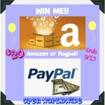 Weekend Birthday Flash Giveaway ~ Win a $20 Amazon or Paypal (Winners Choice, Open Worldwide) Ends 09/23/14