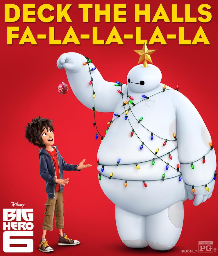 big little meme valentines day - Have a FA LA LA LA LA Fun Christmas from myself Big Hero