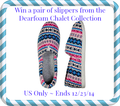 Enter the Dearfoam Comfort & Joy Pin-to-Win Giveaway. Ends 12/23.