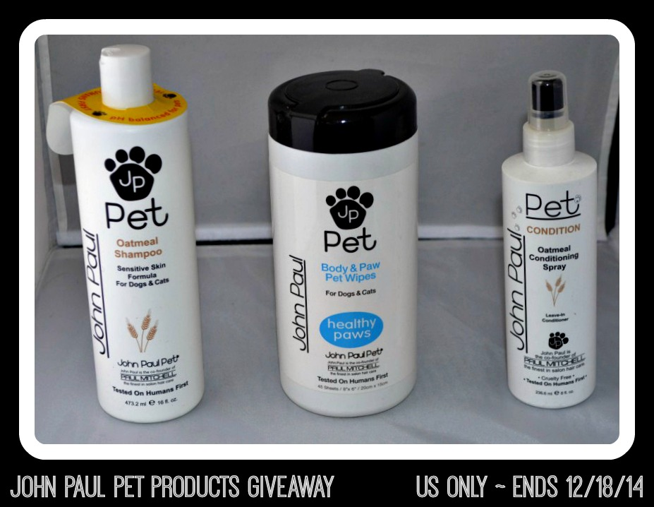 John Paul Pet Products Giveaway