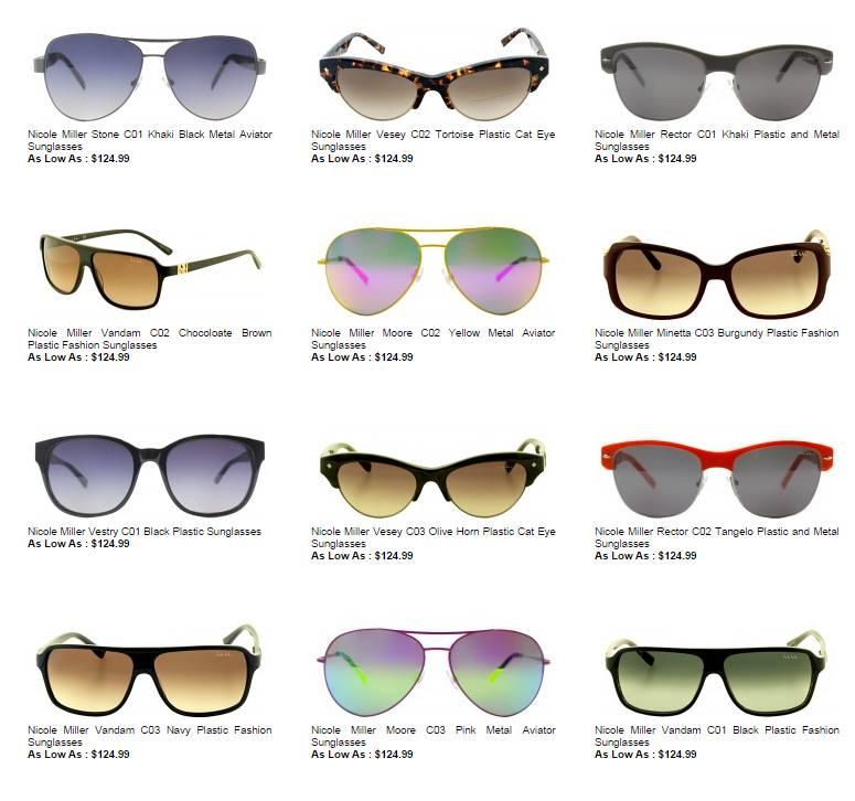 Nicole Miller Cat Eye Glasses