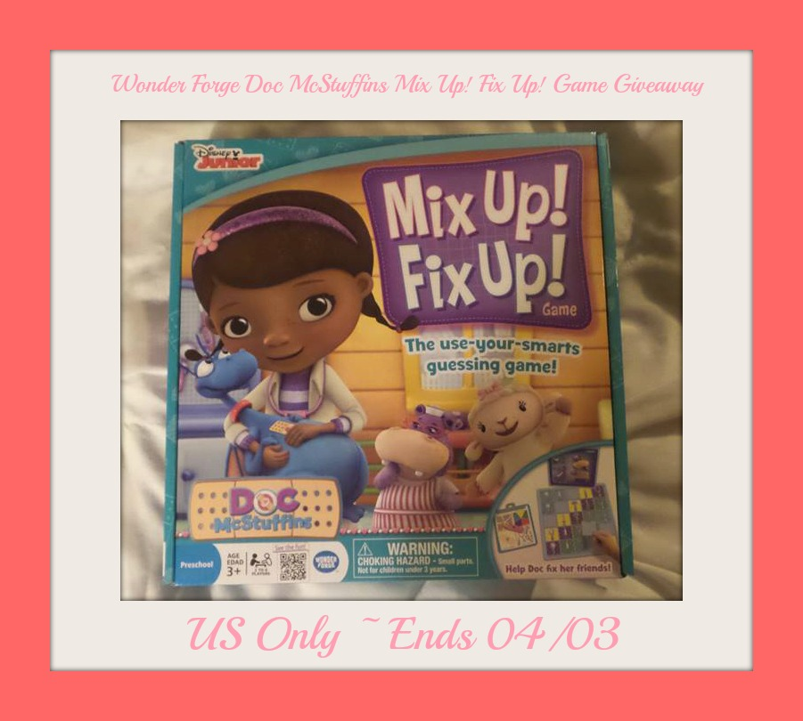 Enter the Wonder Forge Doc McStuffins Mix Up! Fix Up! Game Giveaway. Ends 4/3.