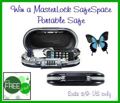 Enter the MasterLock SafeSpace Portable Safe Giveaway. Ends 3/9