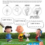 Free Spring Snoopy Springtime Printable Activity Sheets