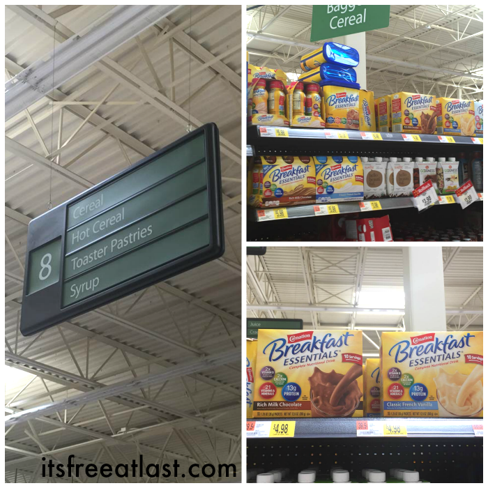 Carnation Breakfast Essentials at Walmart