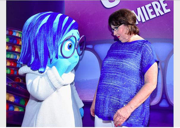 Phyllis Smith and Sadness