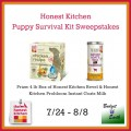 Honest Kitchen Puppy Survival Kit Sweepstakes
