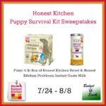 Honest Kitchen Puppy Survival Kit Giveaway