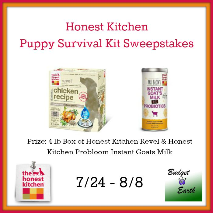 Kitchen Sweepstakes: Honest Kitchen Puppy Survival Kit Giveaway