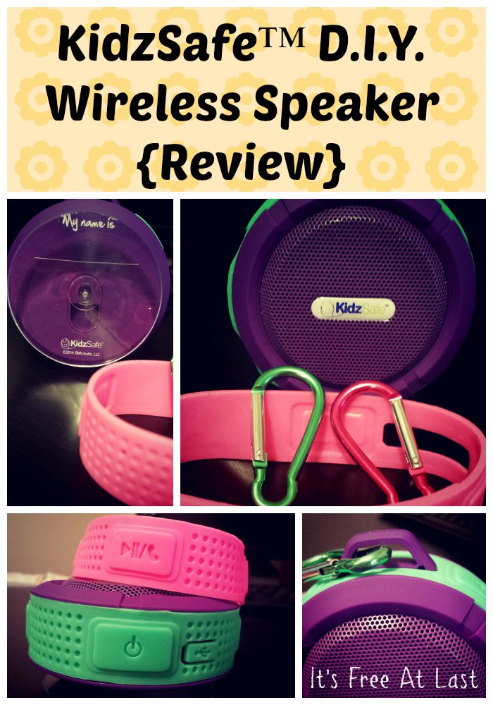 KidzSafe™ D.I.Y. Wireless Speaker {Review}