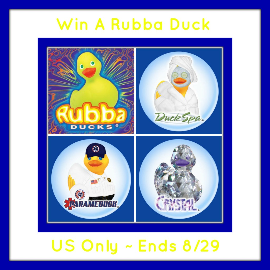 Enter the Rubba Duck Giveaway. Ends 8/29.