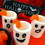 Edible Ghost Shot Glasses with Marshmallow Infused White Rum (msg 4 21)