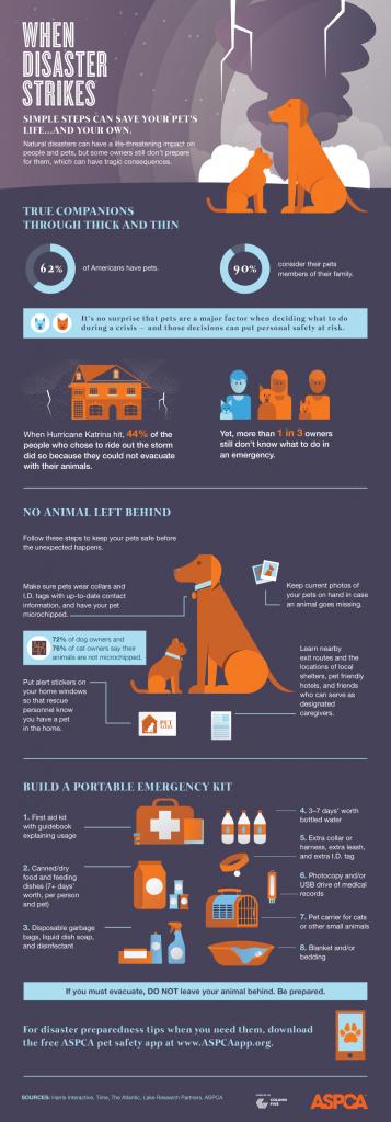 aspca pet disaster infographic