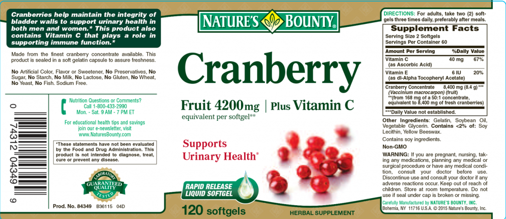 Cranberry Label