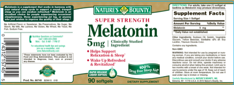 Melatonin Label