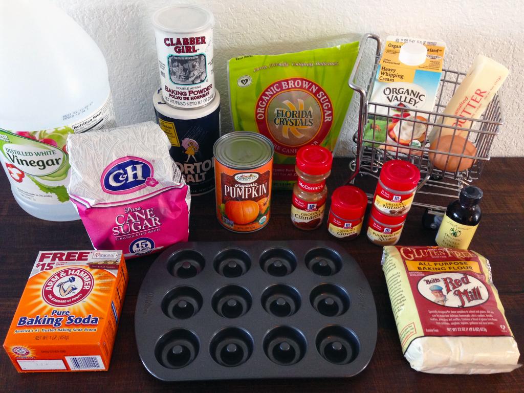 Pumpkin Spice Mini Cake Donuts with PS Glaze Ingredients