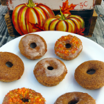 Fun Pumpkin Facts and A Delicious Recipe for Pumpkin Spice Glazed Mini Cake Doughnuts