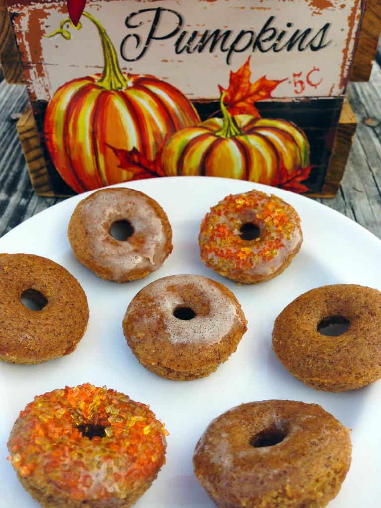 Pumpkin Spice Mini Donuts with PS Glaze #3