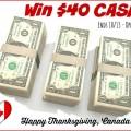 Weekend Flash Cash Giveaway ~ Win $40 Cash Prize