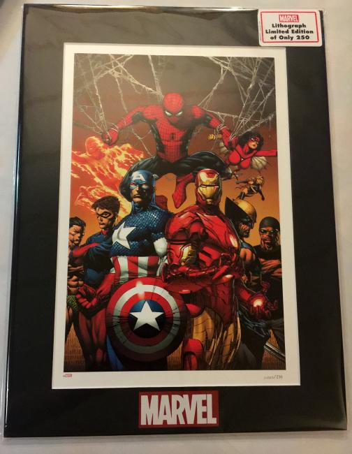 "Marvel ""Enforcers"" Lithograph #FAMChristmas"