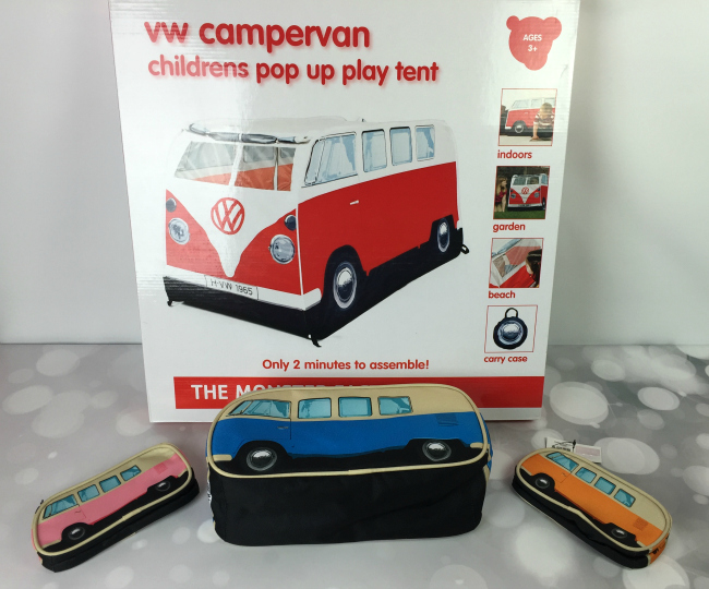 The Monster Factory - VW Campervan Tent, Pencil Case, and Lunch Box #FAMChristmas