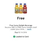 Kroger Free Friday: Free Sunny Delight Beverage