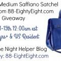 Katie Cobalt Medium Saffiano Satchel Handbag Giveaway