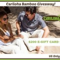 Cariloha Bamboo Gift Card Giveaway