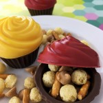 Cocoa Puff Mix Filled Candy Cupcake Recipe