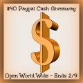 Weekend Cash Flash Giveaway – Win $40 Paypal