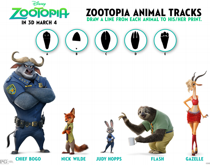 Zootopia Coloring & Activity Sheets and New Clips # ...