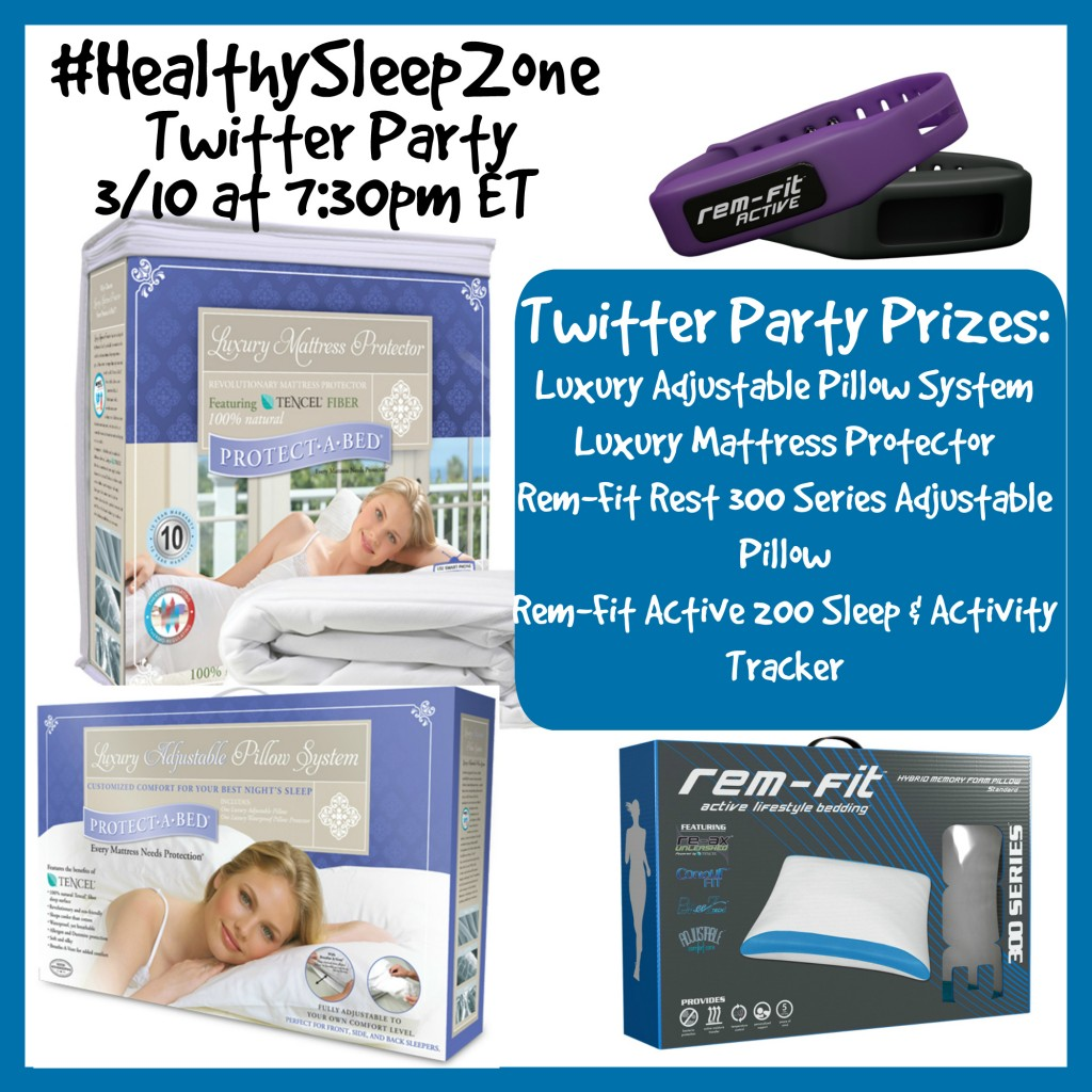 Healthy Sleep Zone Twitter Party Button