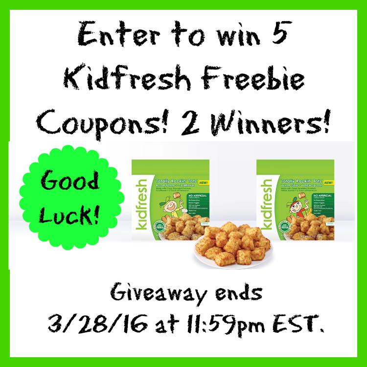 Kidfresh Freebie Coupons Giveaway