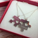 Mother & Daughter Personalized Puzzle Piece Necklaces Are Perfect Gift