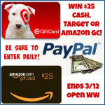 Win $25 CASH, Target or Amazon GC! WW ends 3/12