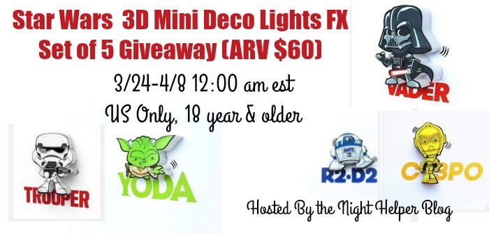 3d mini deco lights giveaway it 39 s free at last. Black Bedroom Furniture Sets. Home Design Ideas