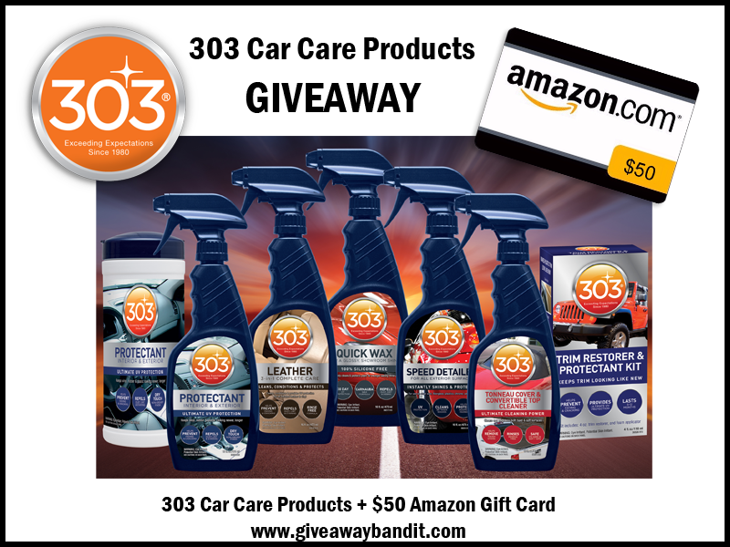 303 Car Care Products Prize Package Giveaway It 39 S Free At Last