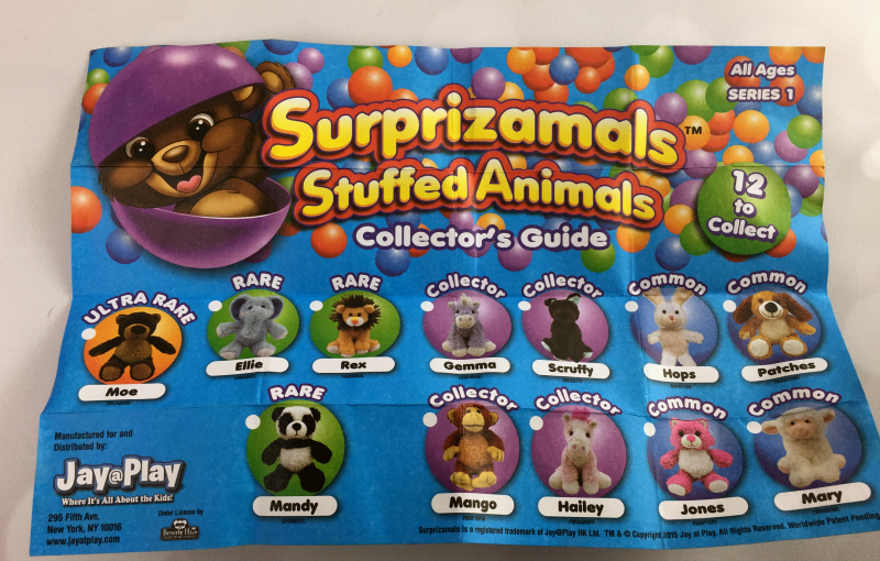 Surprizamals Stuffed Animals Collectors Guide